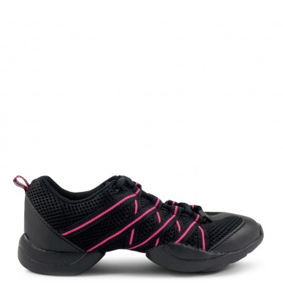 S0524 nero rosa criss cross