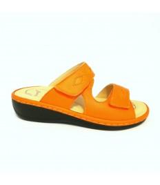 Oasi articolo 1300-15 pelle arancione plantare estraibile